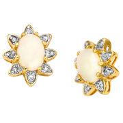 Two Toned Genuine Opal Earrings