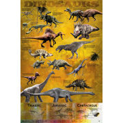 Dinosaurs Chart - Maxi Poster - 61 x 91.5cm