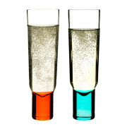Sagaform Club Champagne Glasses 2 Pack - Turquoise/Orange