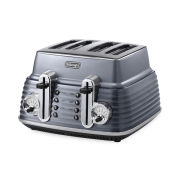 De'Longhi CTZ4003 Scultura 4 Slice Toaster - Gun Metal High Gloss