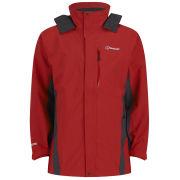 Berghaus Men's Hurricane Shell Jacket - Red/Dark Grey