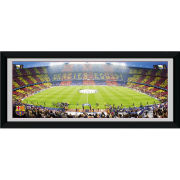 "Barcelona Nou Camp - 30"""" x 12"""" Framed Photographic"