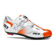 Sidi Kaos Carbon Cycling Shoes - White/Orange Fluo