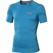 Asics Men's Tiger Running Top - Atlantic Blue