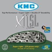 KMC X11 Super Light Diamond Like Coating Chain - 114 Links - Black