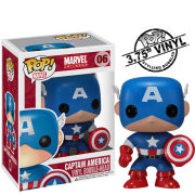 Figura Pop! Vinyl Bobble Head Capitán América - Marvel