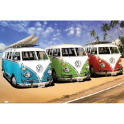 VW Californian Camper Campers Beach - Maxi Poster - 61 x 91.5cm