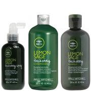 Paul Mitchell Tea Tree Lemon Sage Trio- Shampoo, Conditioner & Thickening Spray
