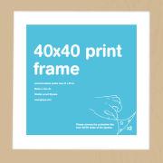 Oak Frame 40 x 40cm Print