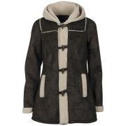 Vero Moda Women's Classico Shearling Duffle Coat - Mocca