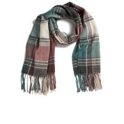 Impulse Women's Check Scarf - Light Blue