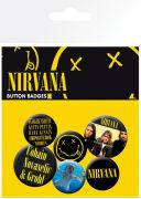 Lot de Badges Nirvana - Smiley