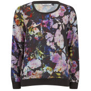 ONLY Women's Mixed Floral Sweatshirt - Multi