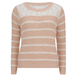 ONLY Women's Gossip Knitted Jumper - Peach Melba