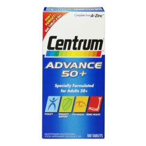 Centrum Advance 50 Plus Multivitamin Tablets – (100 tabletter)