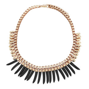 Impulse Women's Perspex Drop Necklace - Gold