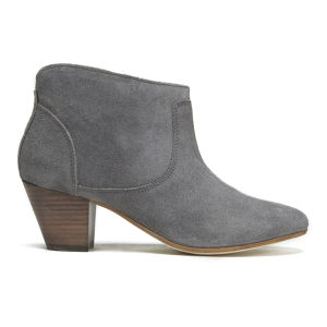 H Shoes by Hudson Women's Kiver Suede Heeled Ankle Boots - Slate