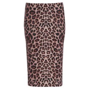 Damned Delux Women's Bam Bam Pencil Skirt - Animal Print