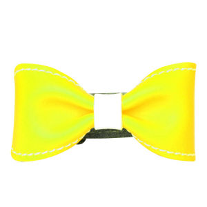 Anna Lou of London Limited Edition Leather Bow Bracelet - Neon Yellow