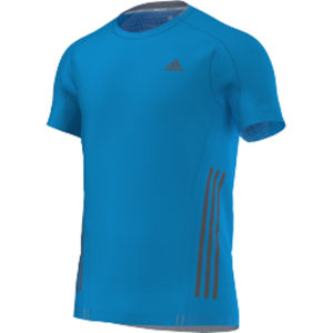 adidas Men's Supernova Running Short Sleeve Tee Shirt - Solar Blue/Grey