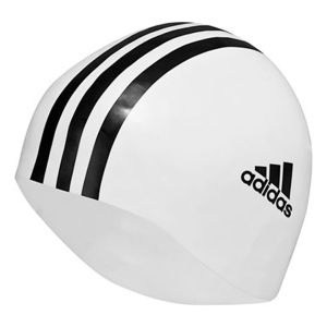 adidas Men's Silicone Swimming Hat - White/Black