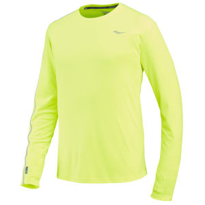 Saucony Men's Velocity Long Sleeve Running T-Shirt - Green