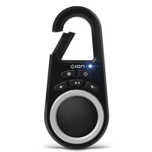 ION Audio Clipster Bluetooth Wireless Speaker with Built-in Clip - Black