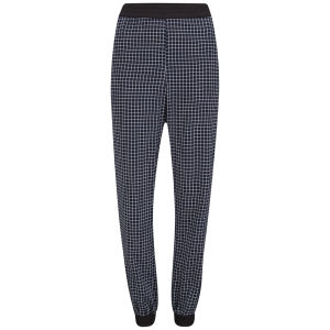 Vero Moda Women's Aya Check Printed Trousers - Navy
