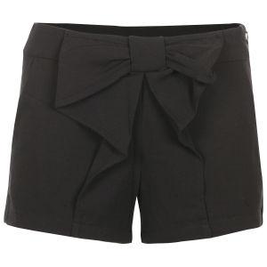 VILA Women's Bow Shorts - Black