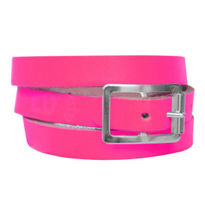 Anna Lou of London Limited Edition Leather Wrap Around Bracelet - Neon Pink