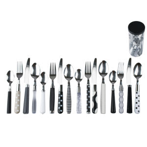 Cutlery Set Mix and Match Black and White Assorted