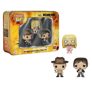 The Walking Dead Pocket Mini Pop! Vinyl Figure 3 Pack Tin