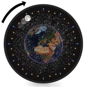 Junk Space Ball Clock