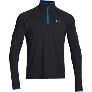 Under Armour Men's HG Flyweight Run 1/4 Zip Top - Black/Electric Blue/Reflective