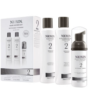 NIOXIN Hair System Kit 2 for Noticeably Thinning Natural Hair (3 produkter)