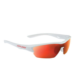 Salice 011 RW Sports Sunglasses - Mirror - White-Red/RW Red