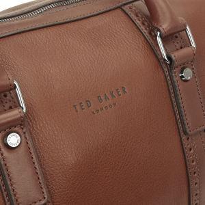 Ted Baker Men s Broguing Leather Holdall Bag - Tan  Image 3 1d3382c29354