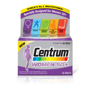 Centrum Women 50 Plus Multivitamin Tablets – (30 tabletter)