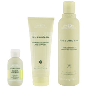 Aveda Pure Abundance Volumising Trio- Shampoo, Conditioner & Abundance Hair Potion -shampoo, hoitoaine ja Abundance Hair Potion