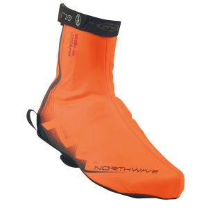Northwave H20 Shoe Cover - Orange Fluo