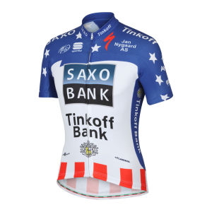 Saxo Bank Tinkoff Bank Team USA Champ Pro Team SS Jersey - 2013