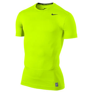 Nike Men's Core Compression Short Sleeve Top 2.0 - Volt Green