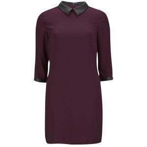 VILA Women's Brute Collar Dress - Winetasting