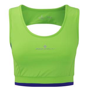 RonHill Women's Aspiration Racer Tank - Fluorescent Green/Plum