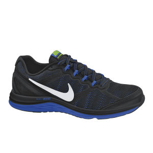 Nike Men's Dual Fusion Run 3 Running Shoes - Black/Cobalt Blue