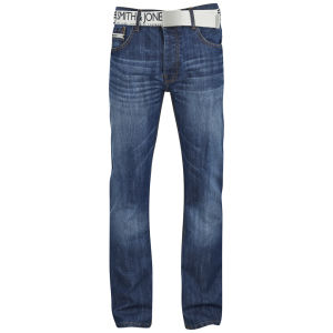 Smith & Jones Men's Furio Straight Fit Jeans - Stonewash