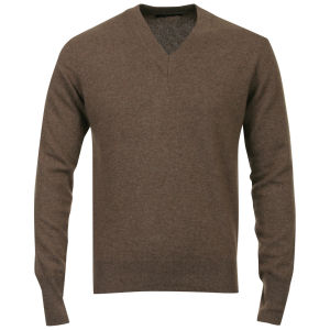 Romeo Gigli Men's V-Neck Knit - Brown
