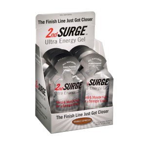 Accelerade 2nd Surge Ultra Energy Gel Double Espresso - Box of 8