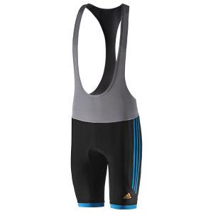 Adidas Response Bib Shorts - Black/Solar Blue