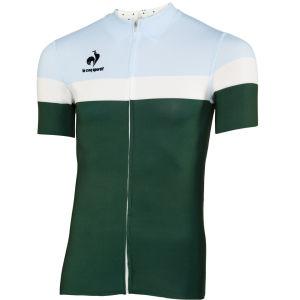 Le Coq Sportif Men's Cycling Performance Short Sleeve New Arac Jersey - Pineneedle